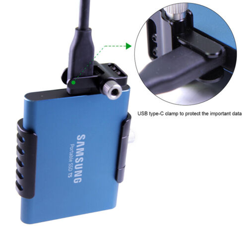 Lanparte SSD Clamp Holder for Samsung T5 BMPCC 4K Z Cam E2 Camera USB-C SSD-T5C