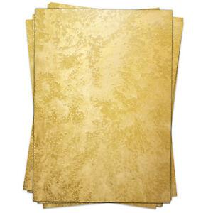 50-Blatt-Briefpapier-Set-A4-Weihnachten-Papier-Bastelpapier-Motiv-Gold-Look