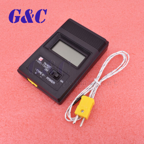 TM-902C Digital K Type LCD Thermodetector Thermometer Meter + Thermocouple Probe
