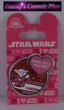 "Disney Valentine Star Wars Yoda ""Mine Will You Be?"" 3D Trading Pin"