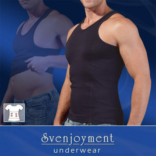 "Bauchweg Shirt 60 62 XXL Shape wear schwarz Männer Mieder Unterhemd /""Tomi/"""