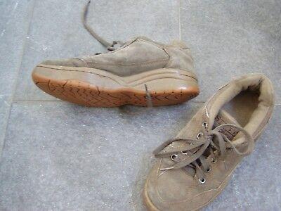38 Unparteiisch Hochglanzpoliert Praktische Braune Leder Sneakers Gr