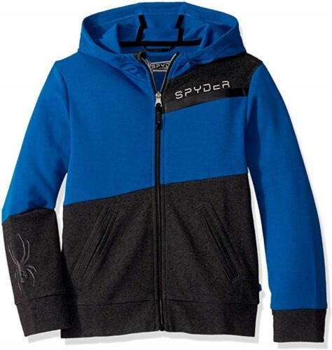Spyder Youth Boys Big Double Knit Full Zip Hoodie Old Glory