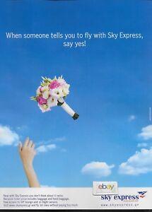 Details about SKY EXPRESS AIRLINES GREECE J-31/32 JETSTREAMS GREEK ISLANDS  WEDDING FLOWERS AD