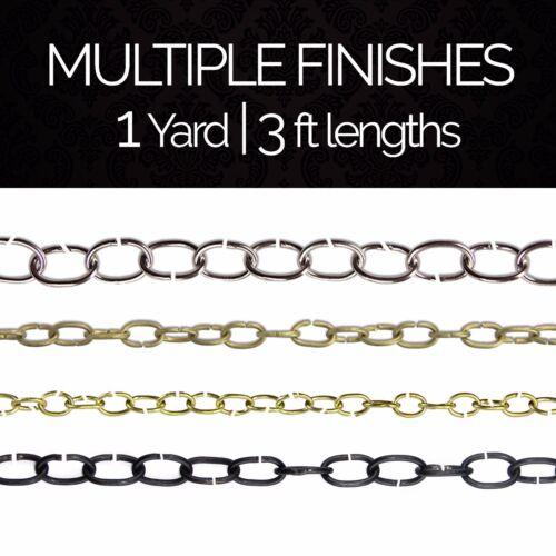 1 yard or 3 feet Solid Brass Light Oval Unwelded Chandelier Fixture Chain #6