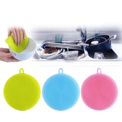 Multipurpose Dishwashing Silicone Sponge Brush Cleaning Schwämme Pot Holder P OX