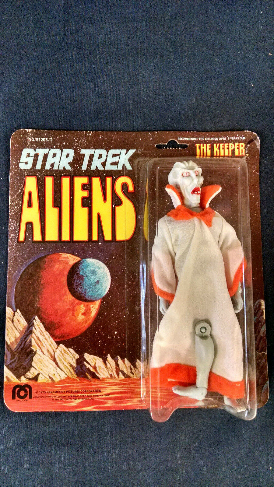 1975 MEGO Star Trek ALIENS the Keeper MOC carded action figure mint on card NOS
