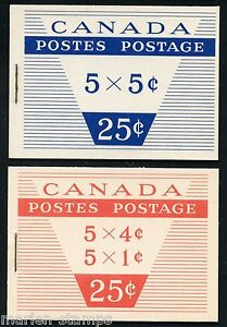 CANADA-COMPLETE-UNEXPLODED-BOOKLET-STANLEY-GIBBONS-SB57-58-MINT-NH-STAMPS