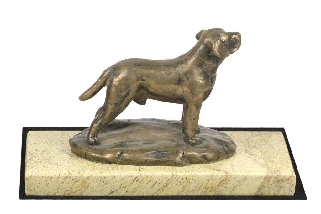 Labrador Retriever - figurina di cane su marmo sabbia, Art Dog IT