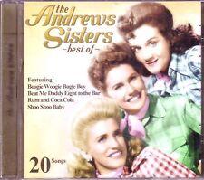 ANDREWS SISTERS Best CD Great Anthology RUM COCA COLA SHOO BABY SHORTIN BREAD