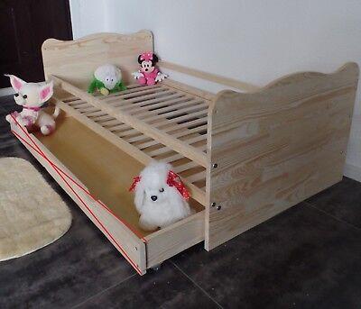 Kinderbett Juniorbett Jugendbett Komplett Set 70x140 Schublade MASSIV Gravur Neu