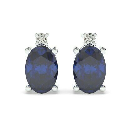 Christmas Special 4.00 mm each 0.50 carat  Round Blue Natural Sapphire Earring