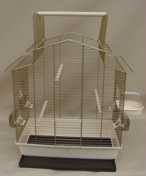 Grande gabbia per uccelli, onde pappagallo gabbia Iza III, oro, ACCESSORI SUPER in oro