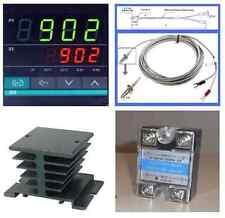 Pid Temperature Controller K Thermocouple Probe Sensor Relay Ssr 40a Heat Sink