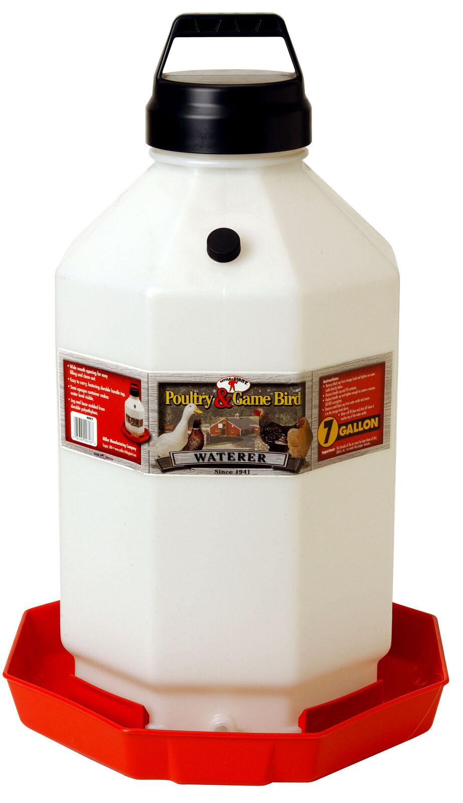 Millerco Plastic Poultry Waterer 7 Gallon
