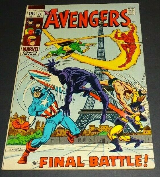 The Avengers 71 Dec 1969 Marvel For Sale Online Ebay