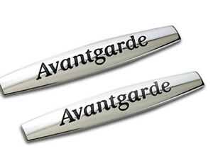 2pcs-Avantgarde-Emblem-Badge-auto-aufkleber-3D-Plakette-car-Sticker-Avantgarde