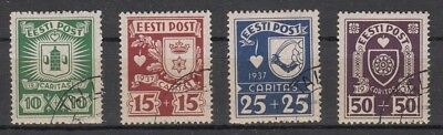 26019 Freigabepreis 1937 Gemeinschaftshilfe 127-30 Gestempelt, Estland