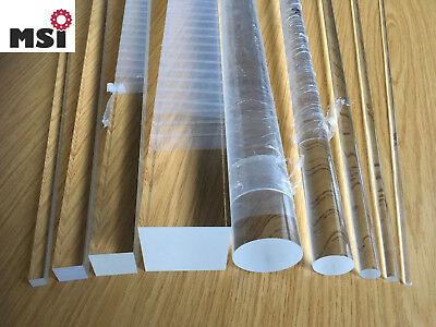 Klar 5mm Durchmesser 20 zoll PMMA Acrylglas Rundstab Acryl Stab Rundstange DE
