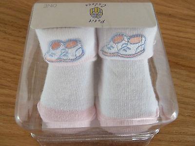 Nuevo bebé recién nacido Niñas Botines calcetines 0-6 Meses En Caja De Presentación