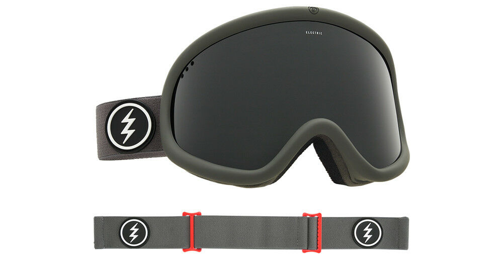 ELECTRIC Charger XL Goggle - 2018 - Cylindrical Lens- Warranty+ Goggle Sleeve