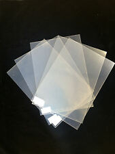 Pack Of 5 Clear Plastic Sheets 295 x 210 x 0.50mm