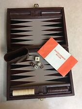 Vintage Backgammon Travel Set Including Original Rules And Magnetic Pieces