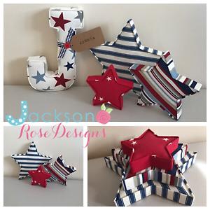 Fabric-stars-Wall-Art-Wall-Decor-Handmade-Fabric-shape-Nursery-fabric-letters