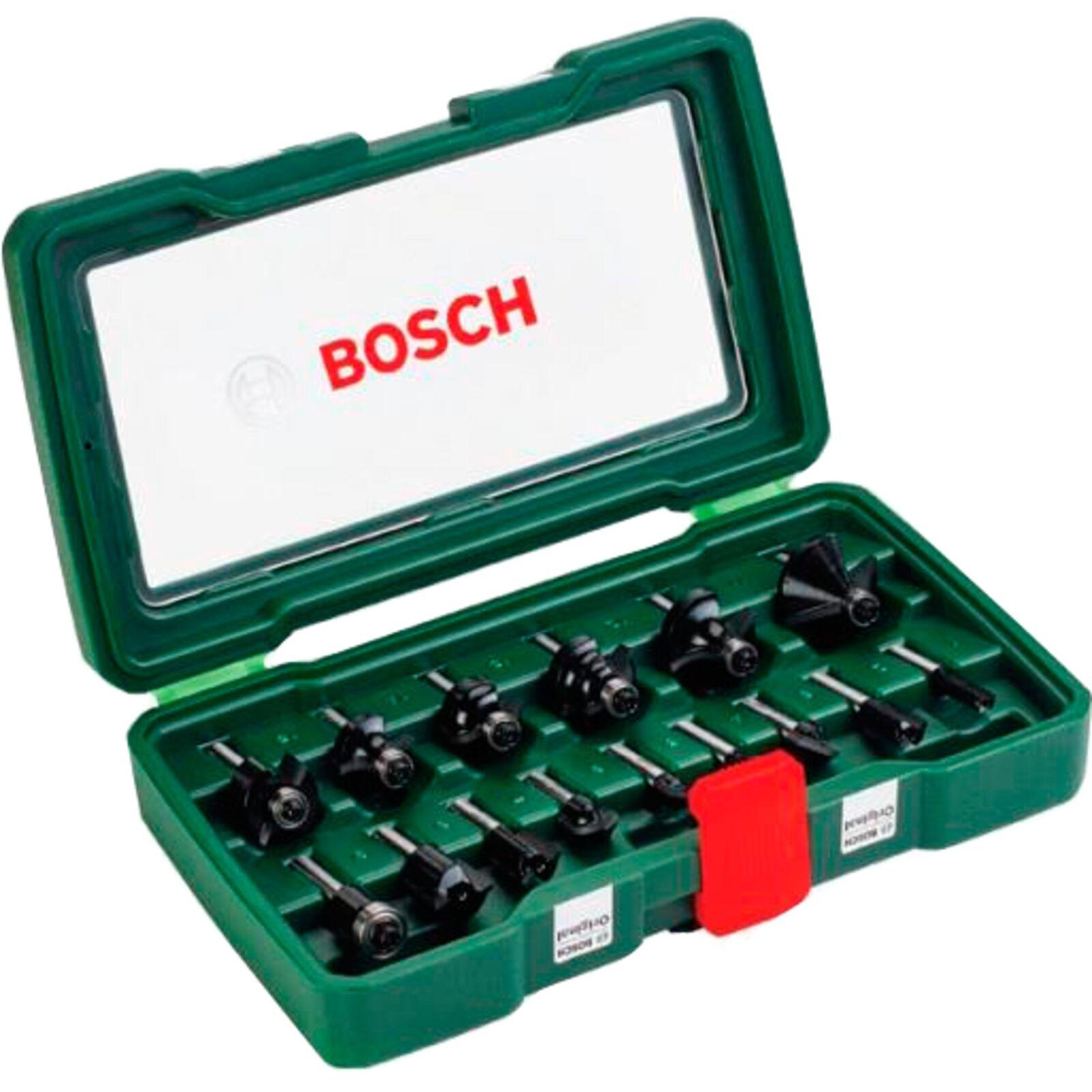 Bosch Heimwerken & Garten 15-teiliges HM-Fräser-Set (1 4  Schaft)