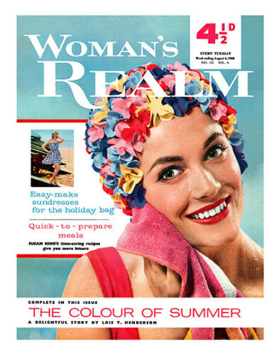 Woman/'s Realm 1960 Poster Reproduction Vintage Womens Magazine Cover