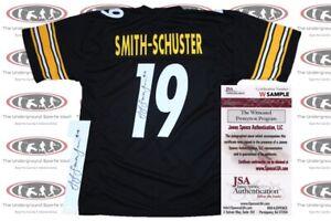 newest 42c07 e4f91 Details about JuJu Smith-Schuster Signed Custom Black Pro Style Jersey JSA  Witnessed