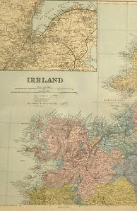 Map Of North West Ireland.Details About 1891 Antique Map Ireland North West Mayo Belfast Environs
