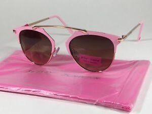 8dd0f85c527d Betsey Johnson Women s Brow Sunglasses Gold Pink Brown Gradient ...