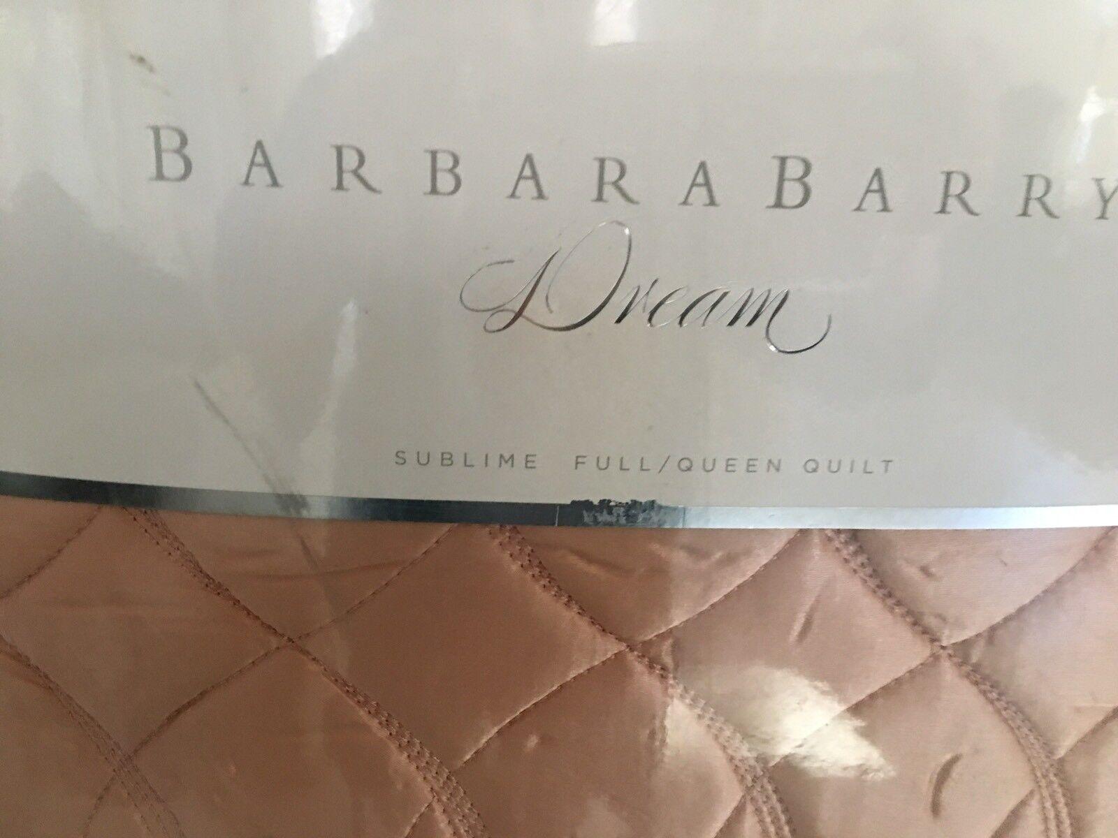 BARBARA BARRY DREAM  SUBLIME  POSY 1 QUEEN QUILT SILK COTTON BLD NIB  400 LAST1