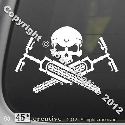 Mt. Biker's Crossbones Decal - mountain bike suspension forks tire wheel sticker