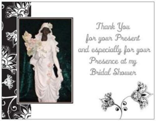 20 African American BRIDAL Shower THANK YOU Post Cards