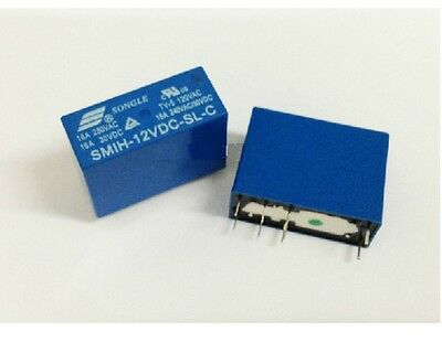 5pcs 12V SMIH-12VDC-SL-C 16A RELAY