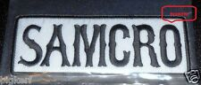 """SAMCRO   """"SONS OF ANARCHY""""   MOTORCYCLE ROADGEAR BIKER PATCH  --- SEW OR IRON-ON"""
