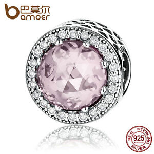 Bamoer-Authentic-S925-Sterling-Silver-Charm-With-Pink-Stone-Fitting-Bracelets