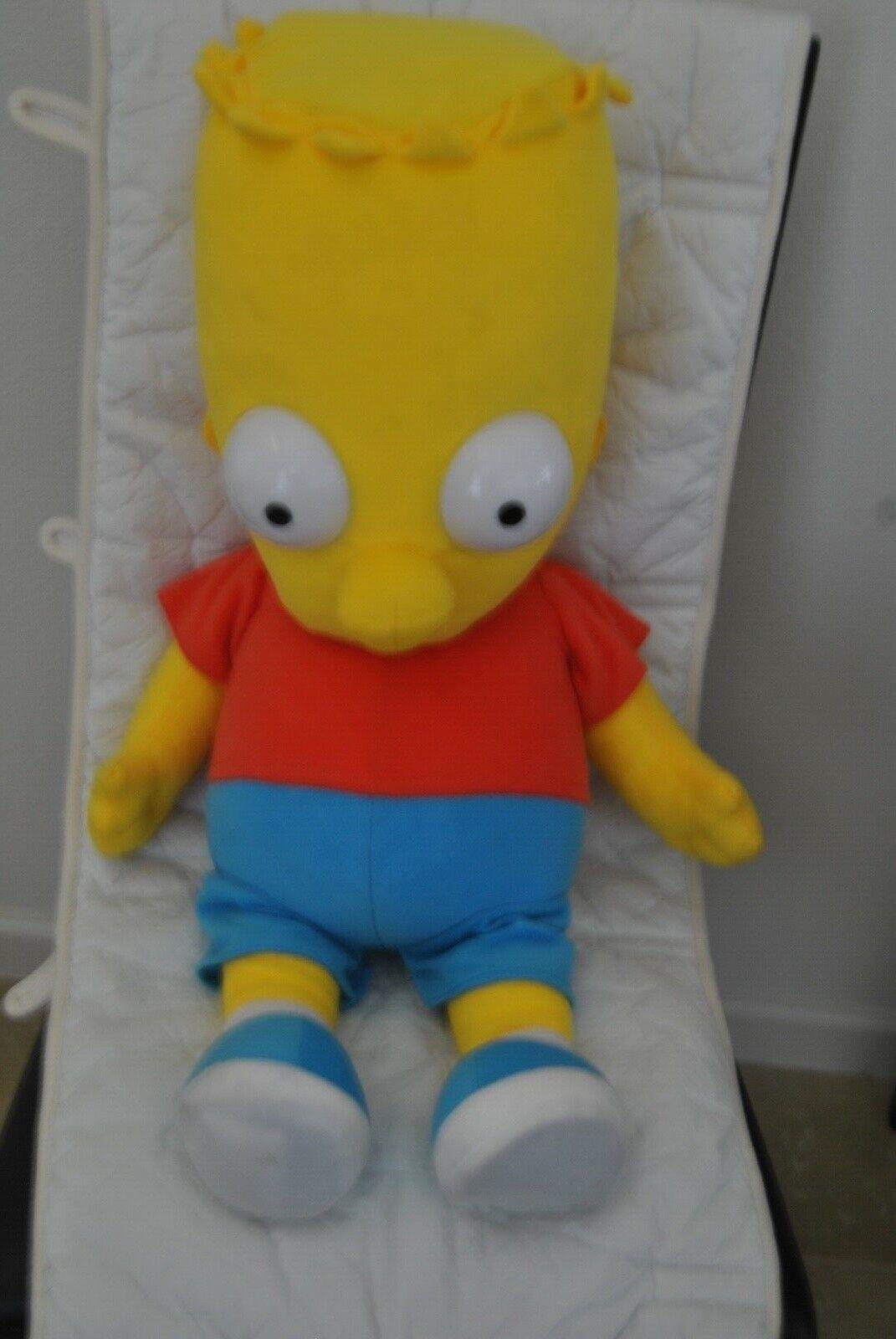 Los juguetes de terciopelo de Bart Simpson, 1999, 1999, 1999, la rara altura de tres pies en Simpson. db2