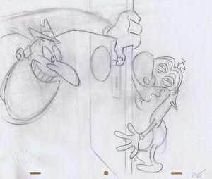 Ren & Stimpy Original 1990's Production Drawing Animation Art Salve