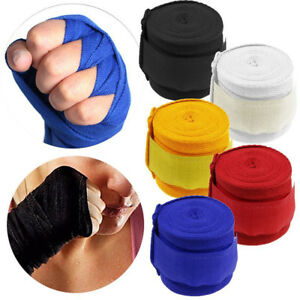Boxing Muay Thai MMA Taekwondo Bandage Hand Gloves Wraps Wrist Straps Kickboxing
