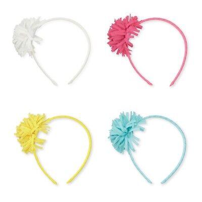 Hair Accessories Baby & Toddler Clothing Alert Mud Pie E8 Party Birthday Girl Frangia Pom-pom Rigido Cerchietto Per Capelli