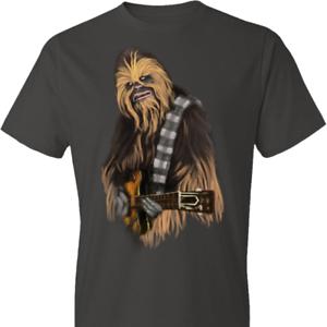 Chewbacca Chubaka Playing Guitar Music Funny Star Wars Men T Shirt