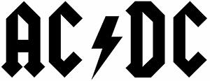 ACDC Autocollant Voiture DECO Diapositive AC//DC 20 cm x 8 cm beaucoup de couleurs regarder