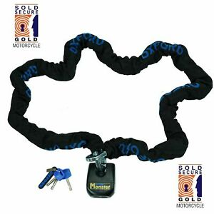 Oxford-Monster-Lock-Motorcycle-2m-Chain-amp-Padlock-LK803-Thatcham-Security