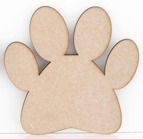 Formas de la pata de perro de artesanía de MDF 3mm de espesor Cachorro Perro Pug Huellas Diseño De Lobo