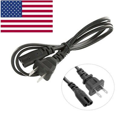 AC Power Cord Cable US plug 2-Prong Compatiable PS2//PS3 Slim//PS4//Xbox
