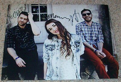 Misterwives Band Signed Autograph 8x10 Photo D W/proof Mandy Lee 2 Autographs-original