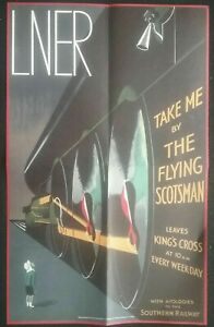 ICONIC-POSTER-OF-THE-LNER-THE-FLYING-SCOTSMAN-2-SIDED-POSTER-SEE-PHOTO-039-S